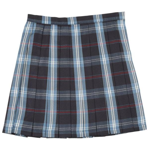 TEENS EVER 16SS 無地 プリーツスカート(ネイビー×ブルー Mサイズ) スクールスカート 制服 無地 女子 レディース 高校生 中学生 学校 4560320864547|konan|02