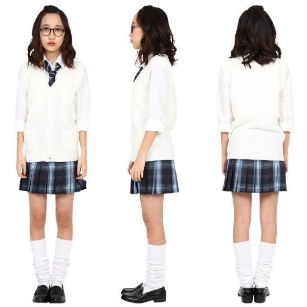 TEENS EVER 16SS 無地 プリーツスカート(ネイビー×ブルー Mサイズ) スクールスカート 制服 無地 女子 レディース 高校生 中学生 学校 4560320864547|konan|03