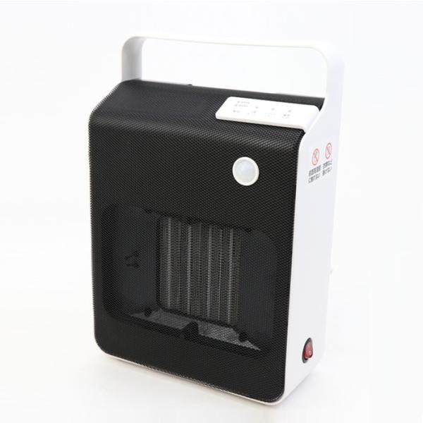 セラミックヒーター 人感センサー 400W・800W マイナスイオン発生 消臭 消し忘れ防止 活性炭フィルター付き ヒロコーポレーション  HDM-1000