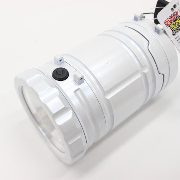 ランタン ランタンライト COB&LED 2WAY  電池式 スライドで点灯&消灯 アウトドア 防災用品 非常用 ホワイト ヒロ・コーポレーション 4562351049191|konan|06