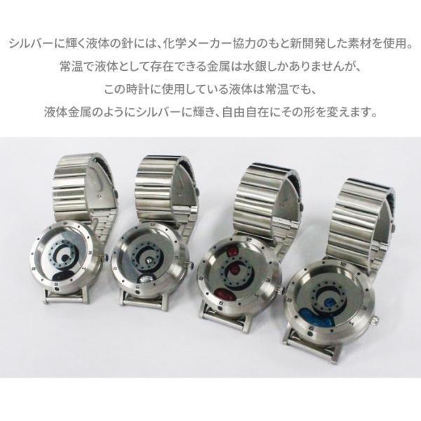 腕時計 LMW LMWatch リキッドメタルウォッチ 液体金属ウォッチ ハンドメイド EleeNo メタル シーホープ LMW-SV-**-M|konan|03