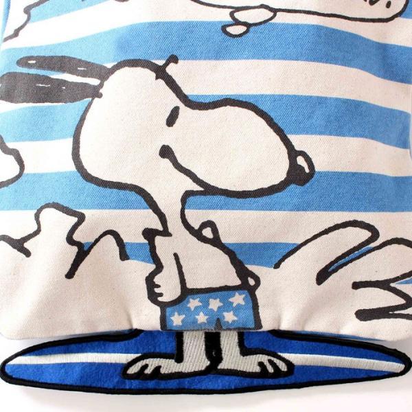 あすつく スヌーピー 足パタパタ トートBAG Peanuts SURFS UP(BL)  ピーナッツ PEANUTS SNOOPY トート トートバッグ BOO HOMES 6048916|konan|04