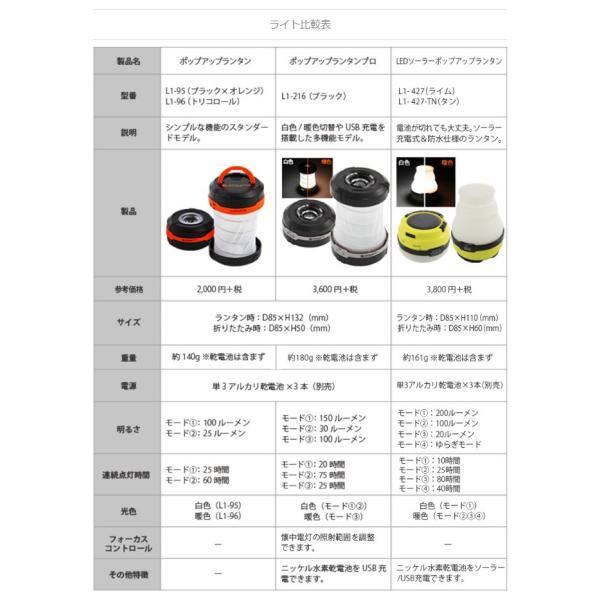 ランタン LED ポップアップ 2WAY 白色/暖色切替 USB充電可 懐中電灯モードで照射角度調整可 DOD L1-216|konan|06