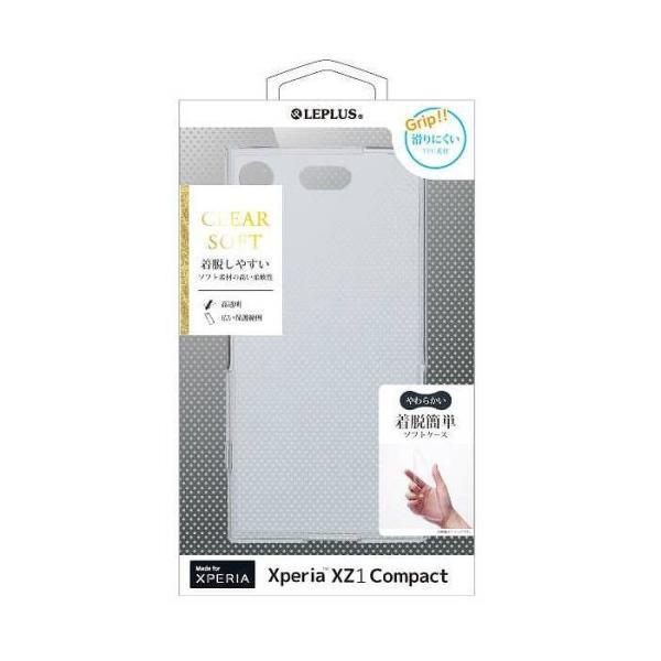 Xperia XZ1 Compact対応 ケース カバー TPUケース CLEAR SOFT クリア 耐久性抜群 手触り良いTPUソフトケース LEPLUS LP-XPXC1TNCL konan 03