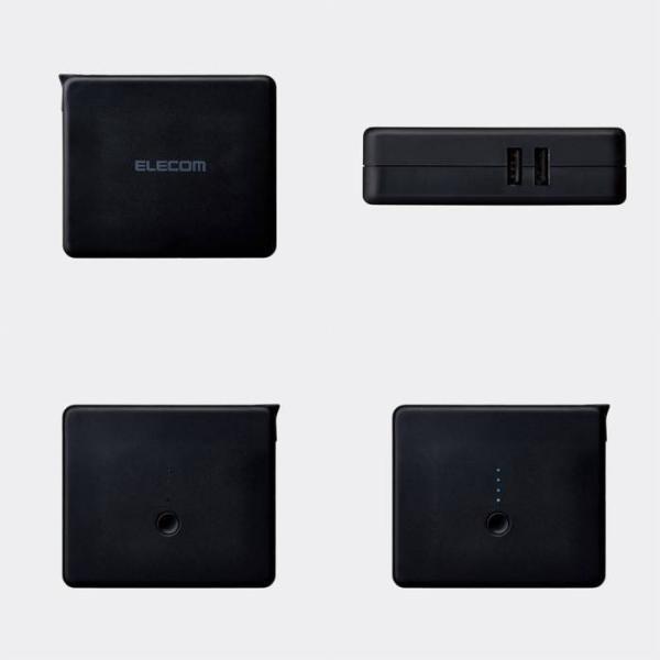 モバイルバッテリー AC充電器一体型 5800mAh 2.4A PSE適合商品 リチウムイオン電池 おまかせ充電対応 エレコム DE-AC01-N5824 konan 08