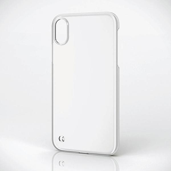 iPhone XR 6.1インチ 用 ケース カバーシェルカバー ストラップホール付 クリア アイフォン テンアール エレコム PM-A18CPVSTCR konan 05