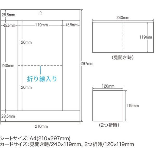 歌詞カードなどに最適 見開きタイプ DVD CDケース用カード フォト光沢CD DVDケースカード(見開き) サンワサプライ JP-INDGK2N konan 04
