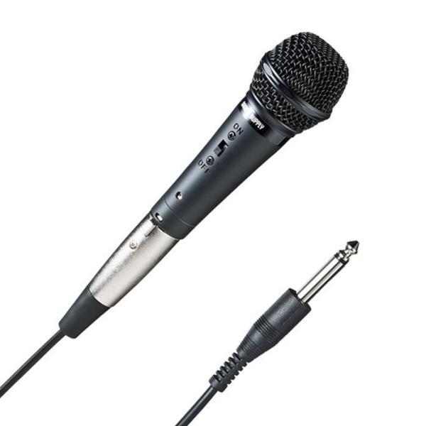 ハンドマイク(有線タイプ) 発言者の声色をできるだけ忠実に引き出す高性能ダイナミックマイク サンワサプライ MM-SPHM3