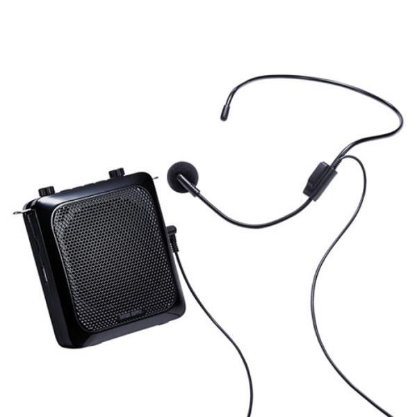 あすつく 拡声器 スピーカーハンズフリー ポータブル 最大出力14W 大音量でしっかり声を届けることができる サンワサプライ MM-SPAMP9
