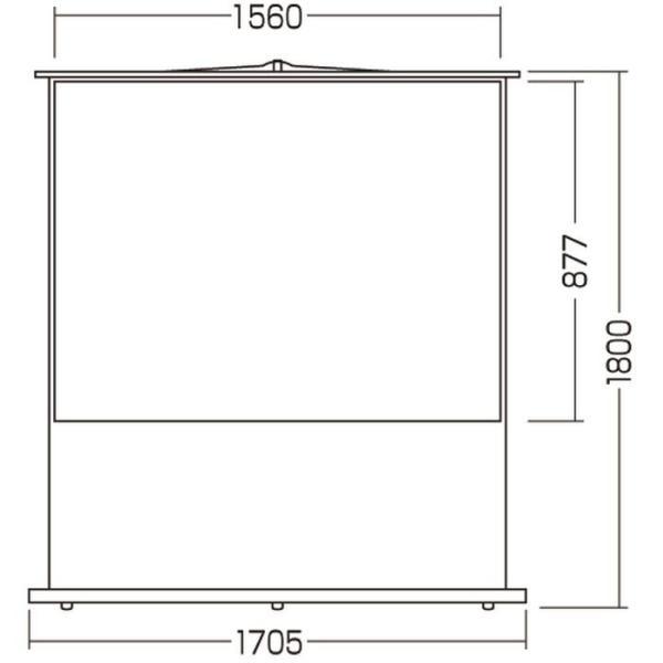 代引不可 プロジェクタースクリーン 床置き式 70型相当 床置き式でワイドタイプのプロジェクタースクリーン サンワサプライ PRS-Y70HD