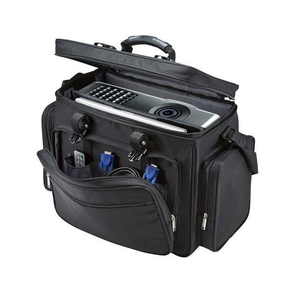 プロジェクター一式の移動・保管に便利なキャリングバッグ プロジェクターバッグ 15.6インチワイド対応 ブラック サンワサプライ BAG-PRO4