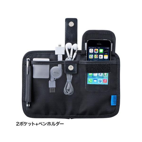 サンワサプライ タブレットアクセサリ収納ケース (7〜8型・ブラック) PDA-TABA7BKN