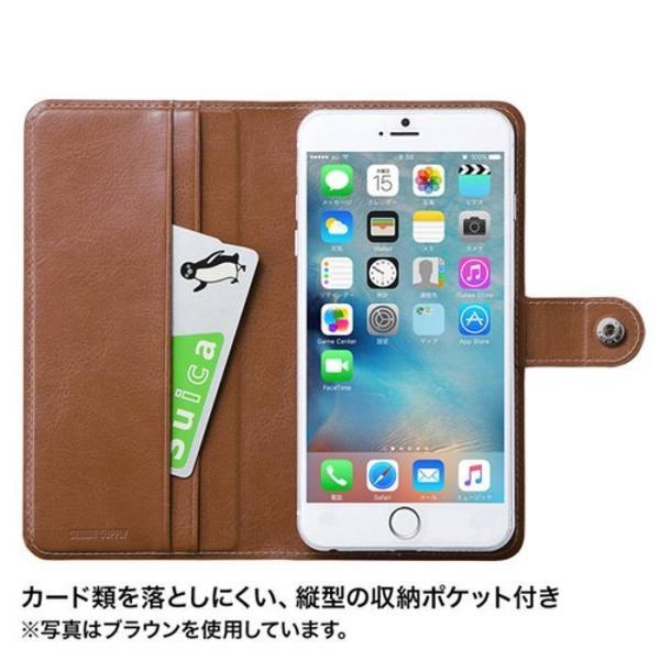 スマホケース 手帳型 スマートフォン ケース カバー 汎用型 ほぼ全機種対応(〜6.0インチ) スライドしてカメラ使用可 高級感のあるPUレザー Lサイズ konan 04
