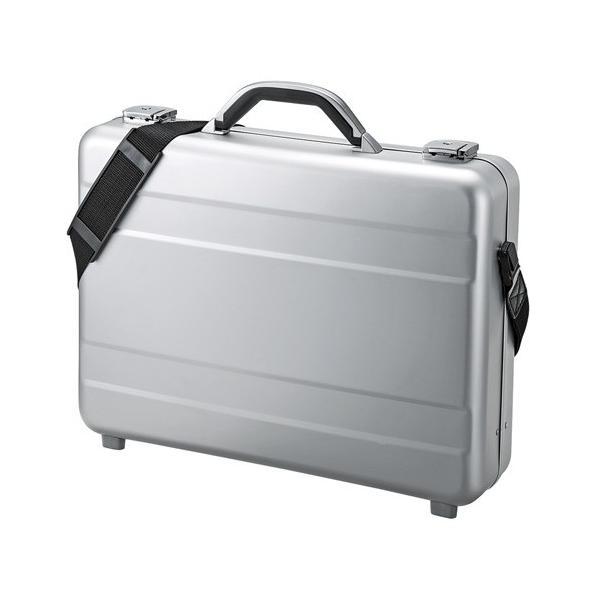 大型ノートにも対応したスタイリッシュなアルミケース 15.6型ワイド対応 PCアルミケース サンワサプライ BAG-AL4