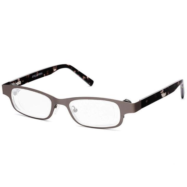 アイジャスターズ オックスブリッジ メタリック&グレーべっ甲 度数可変 シニアグラス ハードケース付 老眼鏡 イギリス製 メテックス EYJOXB-MGYBEK