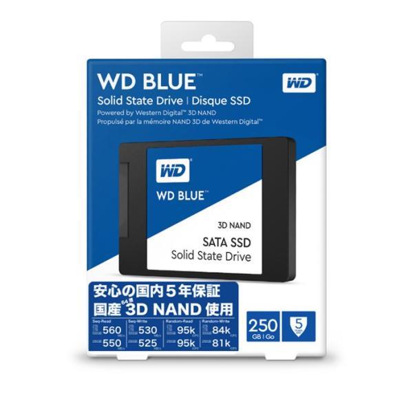 SSD WD BLUE 内蔵SSD 2.5インチ 250GB SATA3.0 5年保証 ソリッドステートドライブ ウエスタンデジタル Western Digital WDC-WDS250G2B0A|konan|02