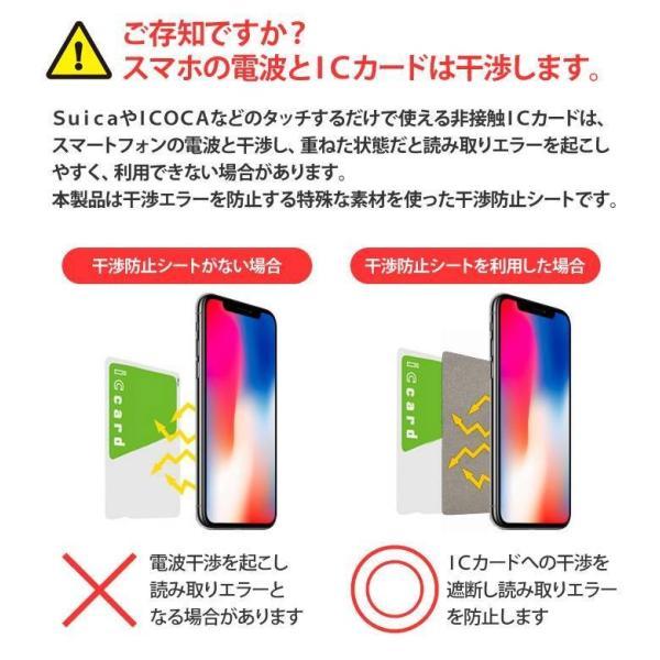 ICカード 干渉防止シート for iPhone スマートフォン スマホケースに入れたICカードの読み取りエラーを防ぐ Suica PASMO ICOCA nanaco WAON DKBS-01|konan|03