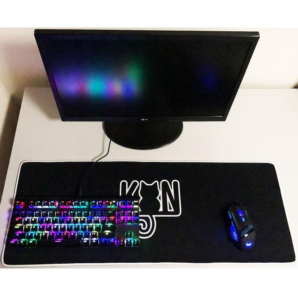 マウスパッド 大型 ゲーミング 光学式 デスクマット パソコン PC 800×300×3mm konkonya27 02