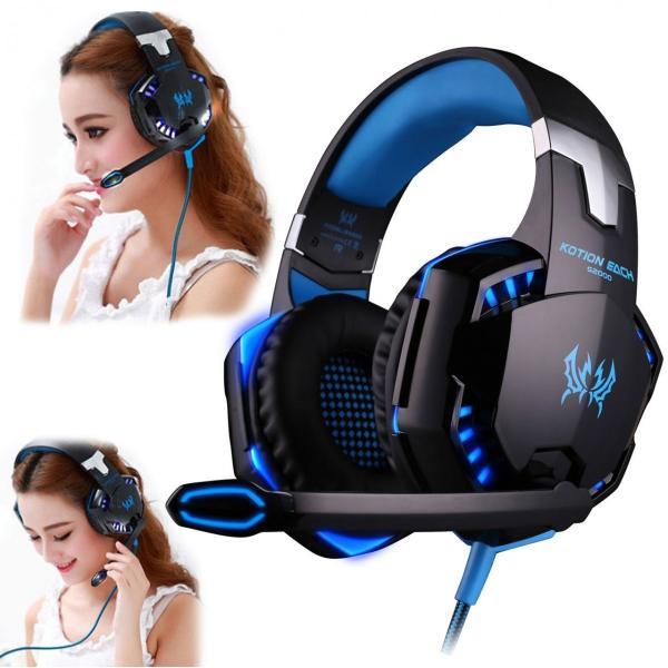 ゲーミングヘッドセット PS4 Xbox One PC  ヘッドホン ヘッドフォン マイク付き G2000 ブルー|konkonya27|14