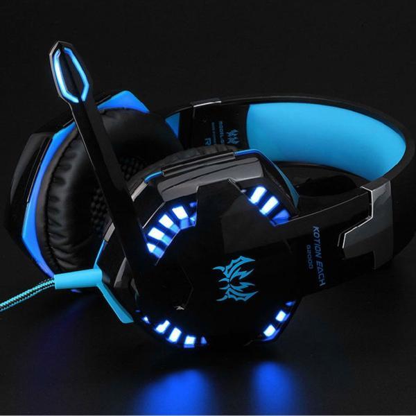 ゲーミングヘッドセット PS4 Xbox One PC  ヘッドホン ヘッドフォン マイク付き G2000 ブルー|konkonya27|06