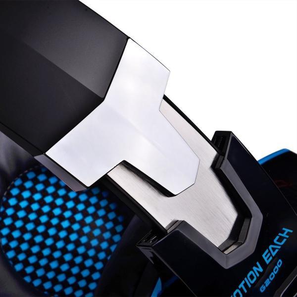 ゲーミングヘッドセット PS4 Xbox One PC  ヘッドホン ヘッドフォン マイク付き G2000 ブルー|konkonya27|07