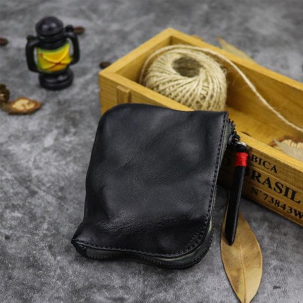 小銭入れ コインケース メンズ 財布 本革 L字ファスナー レザー 薄型|konkonya27|07