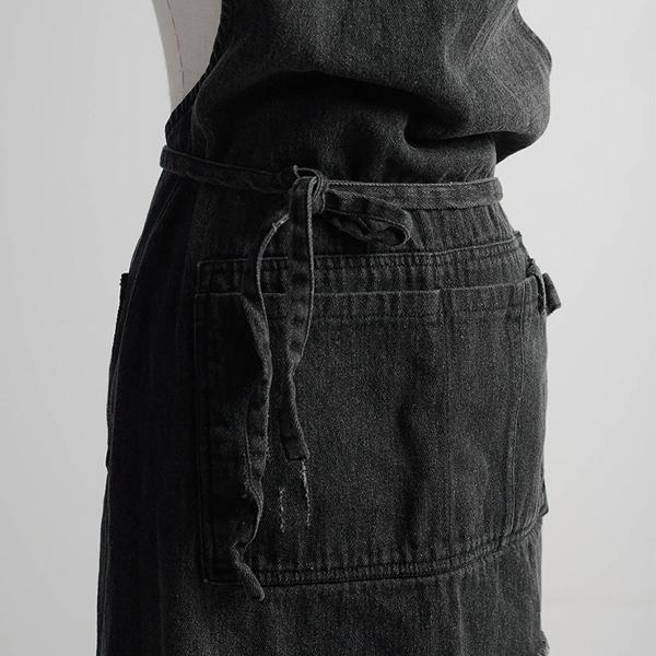 エプロン デニム 作業用 レディース メンズ 調整可能 多機能 X型 ホルタータイプ ワークエプロン 作業エプロン ポケット付き 男女兼用|konkonya27|15