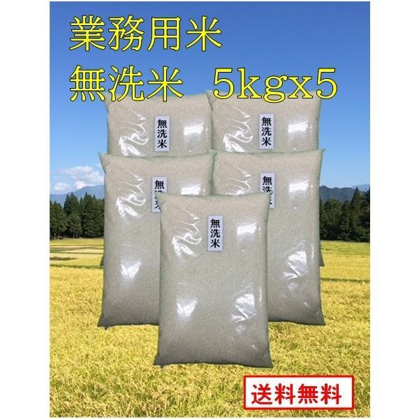 【業務用お米 無洗米5kgx5袋セット 】 生活応援米業務用  新潟産 5キロx5袋 25kg 業務用米  未検査米 送料無料
