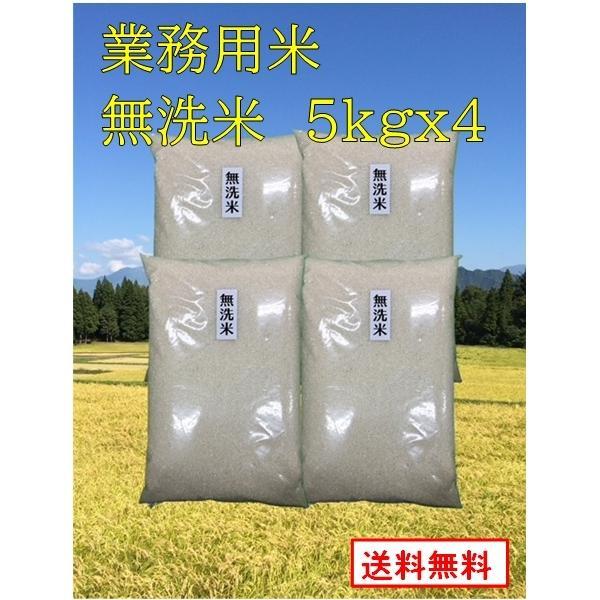 【業務用お米 無洗米 5kg x 4袋】 生活応援米業務用  新潟産 5キロx4袋 業務用米 未検査米 20kg  送料無料