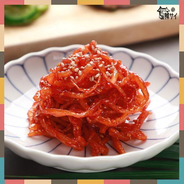 【クール便選択必要!】 ★韓国食材*韓国おかず★おいしい おばちゃん さきいか 甘辛味和え 100g