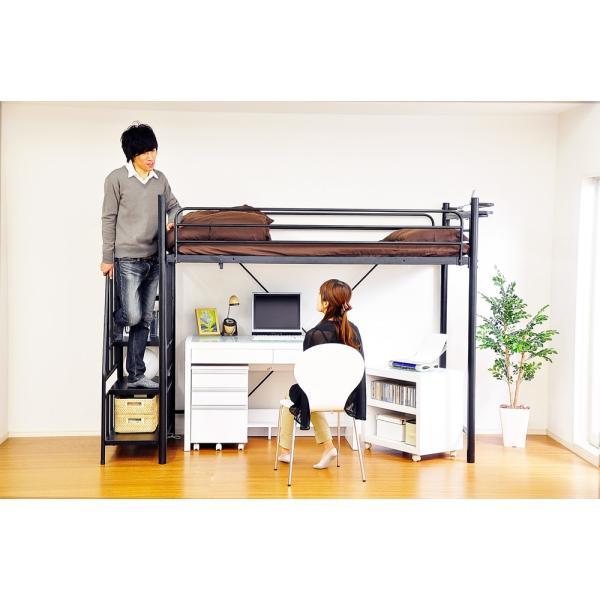 ロフトベット 階段付き 宮コンセント付 シングル (RESIDENCE-レジデンス-)組立設置+5,400円|koreene|06