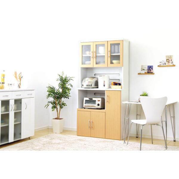 食器棚 ツートーン (パスタキッチンボード)(幅90cm×高さ180cmタイプ)|koreene|12