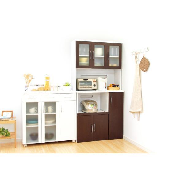 食器棚 ツートーン (パスタキッチンボード)(幅90cm×高さ180cmタイプ)|koreene|13