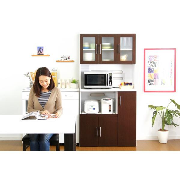 食器棚 ツートーン (パスタキッチンボード)(幅90cm×高さ180cmタイプ)|koreene|14