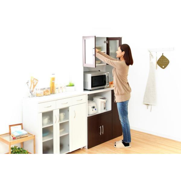食器棚 ツートーン (パスタキッチンボード)(幅90cm×高さ180cmタイプ)|koreene|05