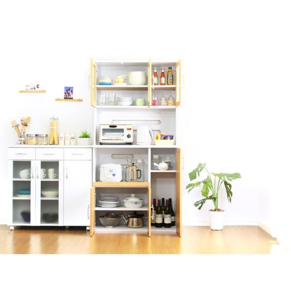 食器棚 ツートーン (パスタキッチンボード)(幅90cm×高さ180cmタイプ)|koreene|06