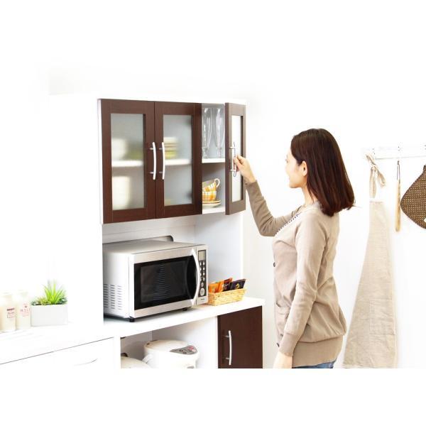 食器棚 ツートーン (パスタキッチンボード)(幅90cm×高さ180cmタイプ)|koreene|07