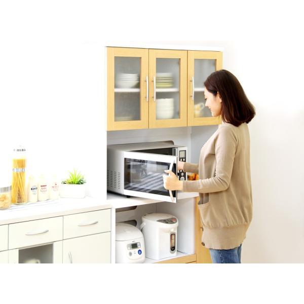 食器棚 ツートーン (パスタキッチンボード)(幅90cm×高さ180cmタイプ)|koreene|08