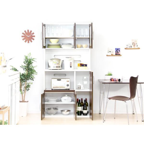 食器棚 ツートーン (パスタキッチンボード)(幅90cm×高さ180cmタイプ)|koreene|10
