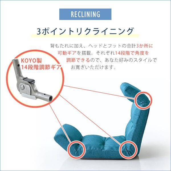 日本製リクライニング座椅子(布地、レザー)14段階調節ギア、転倒防止機能付き | Moln-モルン- Up type|koreene|06