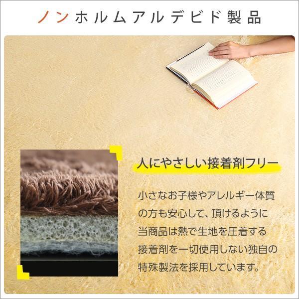 ふわふわシャギーラグマットMサイズ(190×190cm)洗えるラグマット、お手入れも簡単|エノーテ|koreene|06