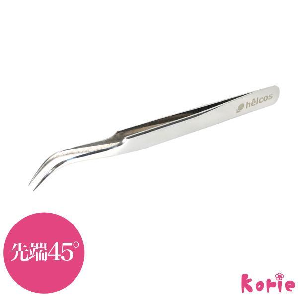 まつげエクステ ツィザーC(45°) 軽量15g ステンレス ピンセット ツイザー ツイーザー|korie