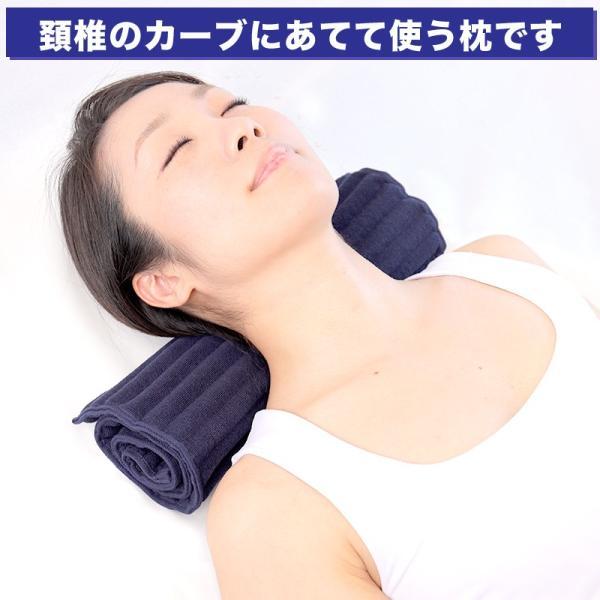 首こり 肩こり ストレートネックでお悩みの方におすすめの枕 コリ吉ロール (ショートタイプ)|koriyoshi-roll|02