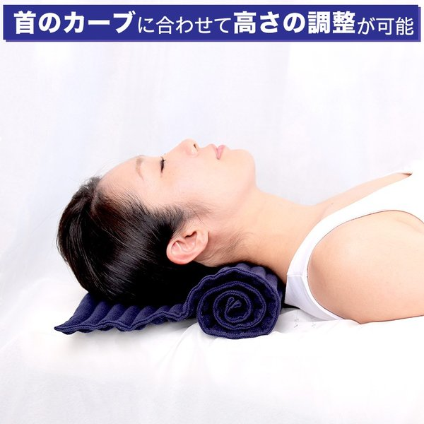 首こり 肩こり ストレートネックでお悩みの方におすすめの枕 コリ吉ロール (ショートタイプ)|koriyoshi-roll|04