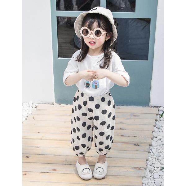 子供服 おしゃれ 韓国 安い 男の子 女の子 ドット柄 パンツ|koruha-store|13