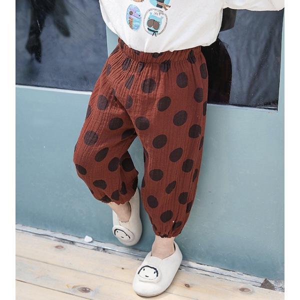 子供服 おしゃれ 韓国 安い 男の子 女の子 ドット柄 パンツ|koruha-store|18