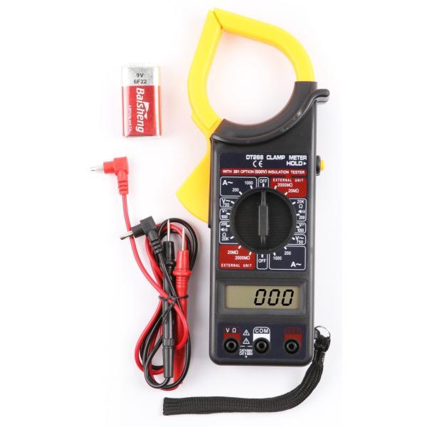 KoshiharaコシハラNN202電気クランプテスターマルチメーター絶縁抵抗計デジタルクランプメーター黒/黄