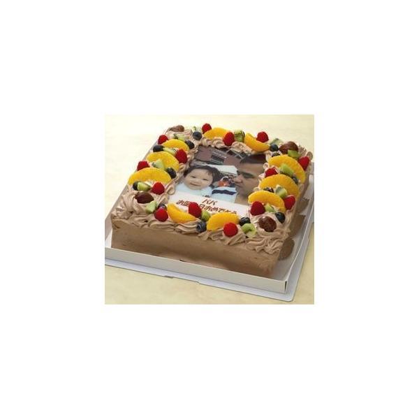 写真ケーキ(四角) 生チョコ 10号【冷凍 到着後は冷蔵庫で4〜5時間保管解凍】【あすつく対応 定休日は不可】誕生日ケーキ 30×30cm|kosiji|02