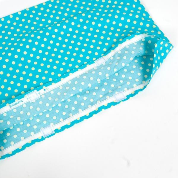 防災ずきん用カバー 32x51cm ラメ入りエメラルド 子供用小学校高学年〜高校生程度迄におすすめです。日本製 防災頭巾カバーの