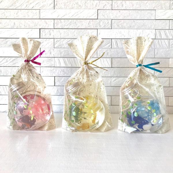 ハーバリウム キット 花材+ボトル+オイル  選べる3色カラー プリザーブドフラワーキット kotohana 02